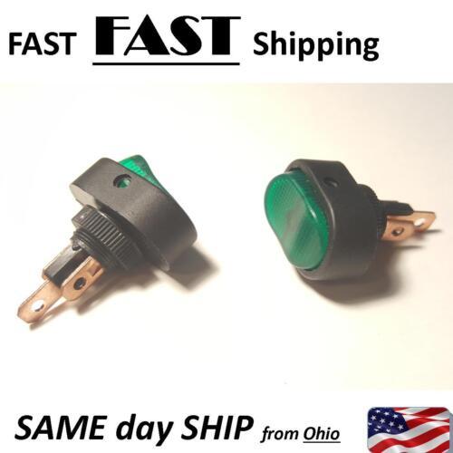 12v DC 30 AMP green LED switch