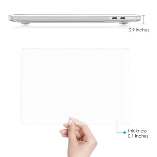 """MacBook Pro 15.4/"""" Case 2018 2017 2016 Release A1990//A1707 Plastic Clear Crystal"""