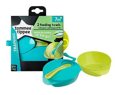 Tommee Tippee 446718 Explora Easy Scoop Feeding Bowl Lid /& Spoon Assorted Colour