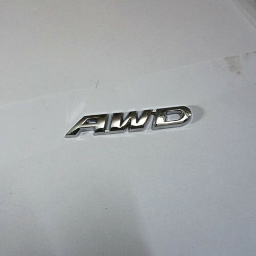 1PC Chrome AWD Metal Badge Emblem Sticker Engine Driven Turbo Limited Hatchback