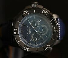 Nautica Mens NST 501 Classic Multifunction Blue Dial Black IP Case Watch N18644G
