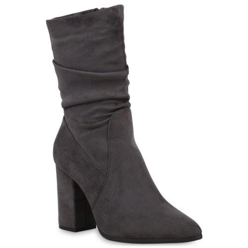 Klassische Damen Stiefeletten Elegante Stiefel Leicht Schuhe 825021 Trendy