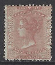 BRITISH COLUMBIA/VANCOUVER ISLAND, 1860 2½d pale reddish rose, fresh mint, SG#2