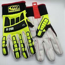 Ringers Roughneck Lime Hi Viz Cut Lvl 2 Gloves Pair With Cotton Palm Sz L