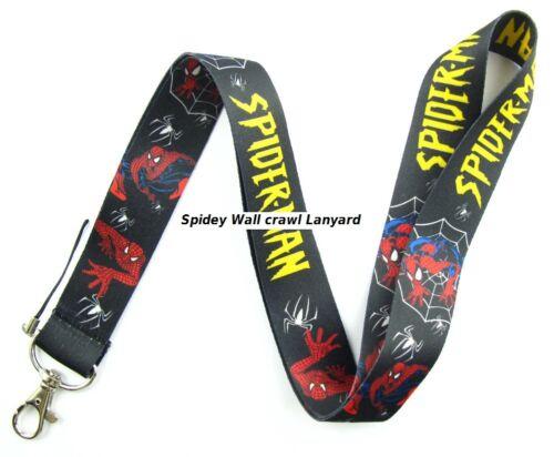 Marvel Comics Spidey Spider Man blk Lanyard Neck Strap Keychain ID Badge Holder