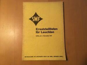 SWF-Ersatzteillisten-fuer-Leuchten-von-1961-mit-Bildern-fuer-Oldtimer