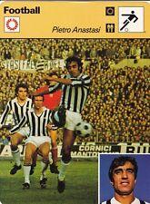 FOOTBALL carte joueur fiche photo PIETRO ANASTASI équipe JUVENTUS
