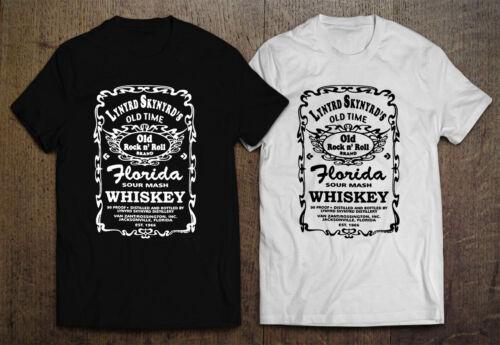 Lynyrd Skynyrd Nation Old Time Florida Men/'s Black White T-Shirt Size S-2XL