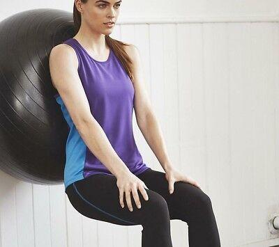 Donna KK963 Cool contrasto Delle Prestazioni Canotta Palestra Allenamento Fitness Sport Nuovo
