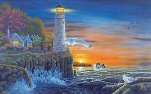 Details Zu Malen Nach Zahlen Leuchtturm Am Meer Blau Größe Ca 30 Cm X 40 Cm Neu