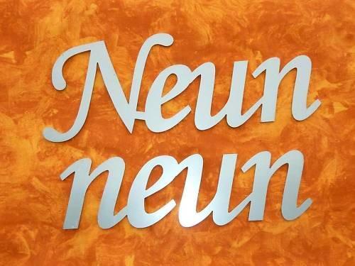 Hausnummer 9  Edelstahl in Schreibschrift 12cm | Sale Düsseldorf  | Klein und fein  | Gemäßigten Kosten