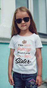 Bien Informé Grande Soeur Personnalisé Bébé/gilet Ou T-shirt-grossesse Annonce-afficher Le Titre D'origine Belle Qualité