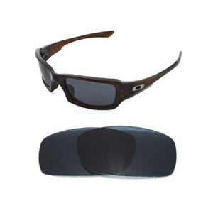NEW POLARIZED BLACK REPLACEMENT LENS FOR OAKLEY FIVES SQUARED ... 085c185cceca