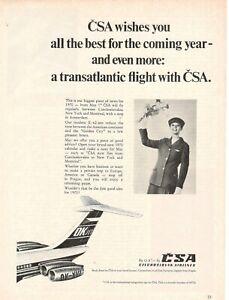 1969-Original-Publicite-039-Advertising-Csa-Tchecoslovaque-Airlines-CM-27x20