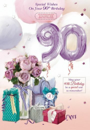 90th Birthday Personalised Card Female