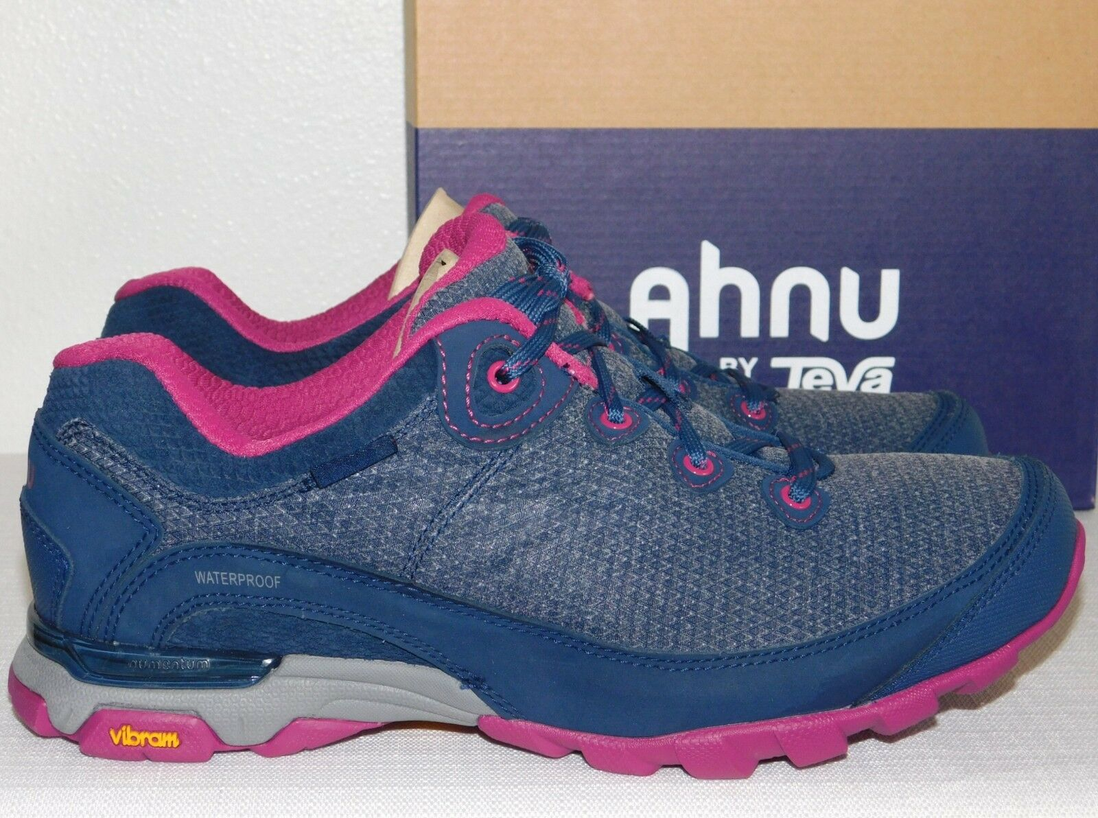 NEW NIB WOMENS INSIGINIA blueE SZ 9.5 AHNU BY TEVA SUGARPINE II WP HIKING SHOES