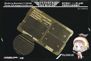 Voyager-1-35-Modern-Russian-T-55A-amp-Tiran-5-Enigma-Grills-for-Tamiya-35257-35324