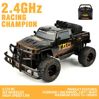 1/10 Rtr Electric Rc Monster Truck Suv Remote Control Car Black - Free Shipping