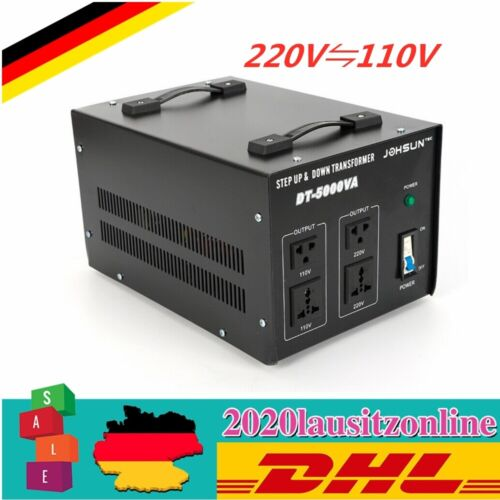 220 V ⇋ 110 V Step Up//Down Converter Convertisseur Convertisseur de tension transformateur 5000 W