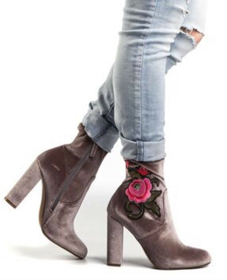 STEVE MADDEN 'Edition' Velvet Floral Stiefelie 6 M   130