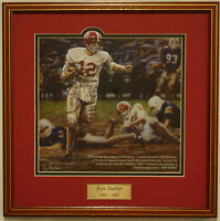 "Alabama football Ken Stabler ""Run in the Mud"" framed print by Daniel Moore"