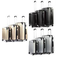Set de 3 Valises de Voyage Coque ABS Léger Bagages Valise Trolley