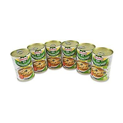 (7,91€/1l) BIO Maultaschen-Suppe 6er Pack (3 Dosen à 400 ml)
