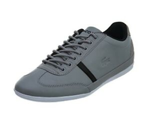 Lacoste-Mens-Shoes-Misano-Sport-317-Grey-Leather-Casual-Fashion-Sneaker-NEW