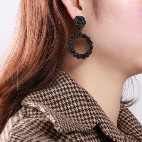 Trendy Women Punk Big Gold Dangle Drop Earrings Metal Statement Geometric