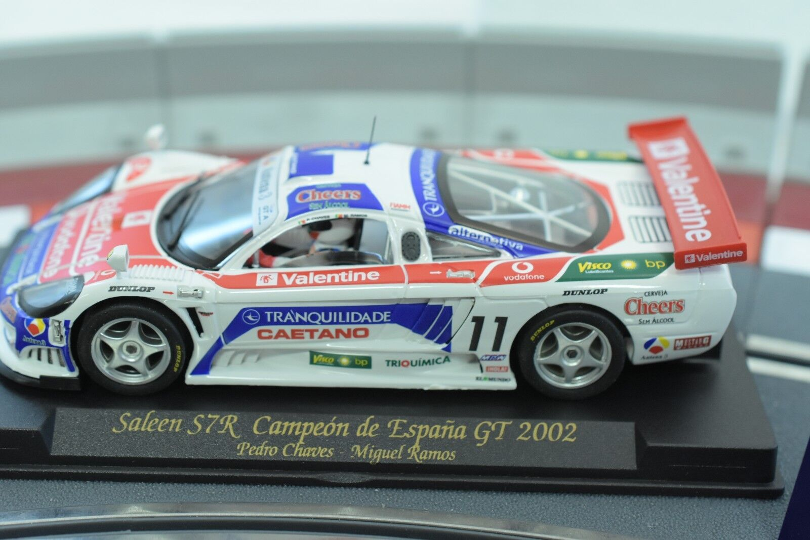 88026 FLY CAR MODEL 1 32 SLOT CAR SALEEN S7R CAMPEON DE ESPANA GT 2002 A-206