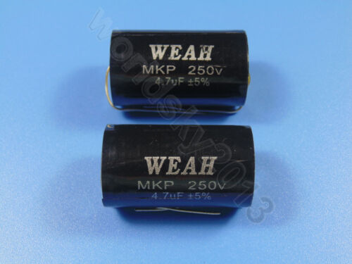 2pcs For WEAH 250V 4.7uF MKP Crossover Polypropylene Non-Polarity Capacitor