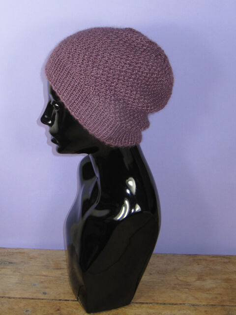 Easy to Make-printed Instructions Double Moss Stitch Slouch Hat Knitting  Pattern  6e7de2f57e7