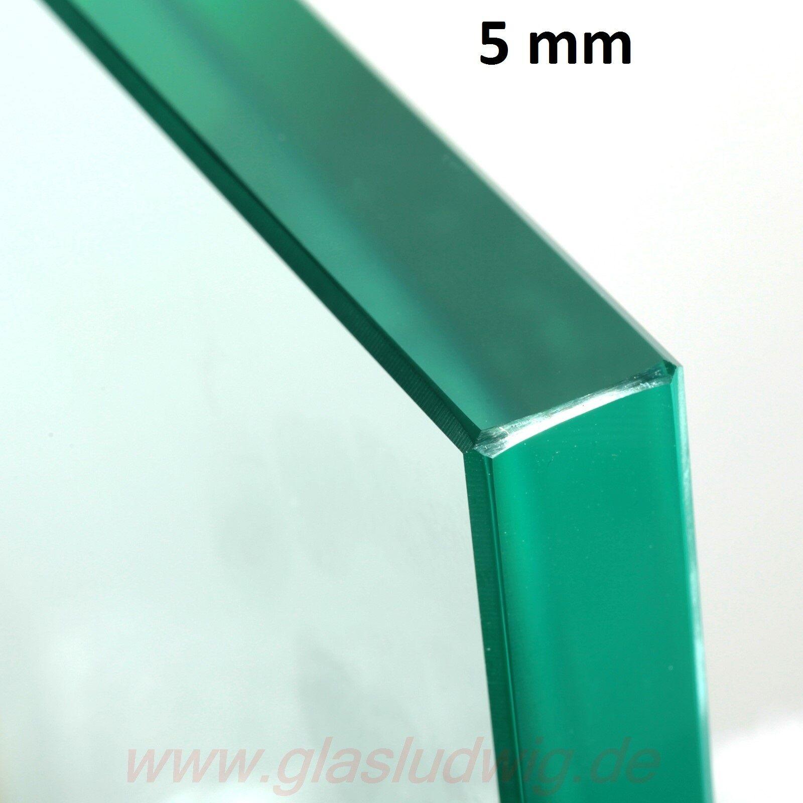 GLASPLATTE 5 mm ESG Sicherheitsglas poliert Wunsch-Maß ( /m²)