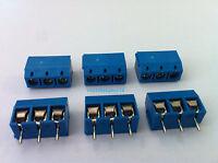 100pcs 3 Pin Screw Terminal Block Connector 5mm Pitch B