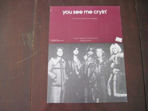 Sheet Music Aerosmith You See Me Cryin/' 1975
