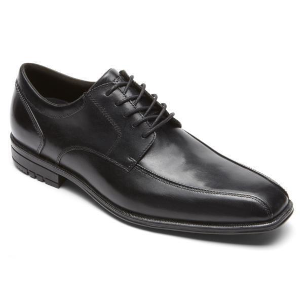 Rockport Men's M79570 Fairwood Macudam Black Leather Oxford