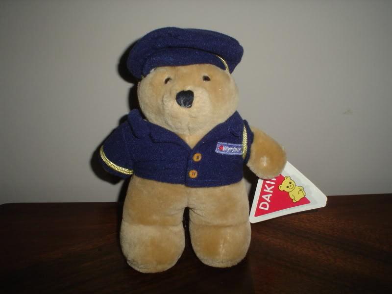 Dakin Wardair Pilot Bear Beige Plush 7.5 inches 80-0053 Outfit All Tags 1987