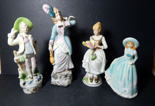 """Lady's Night Out"" Figurine Collection Unkown Makers 4 ColonialVictriona Women"