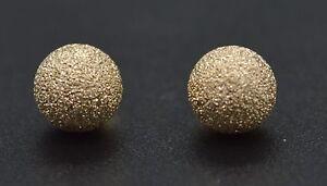 JM33-14K-Solid-Yellow-Gold-5mm-Sparkling-Laser-Cut-Gold-Balls-Stud-Earrings