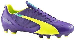 Puma-homme-fussballschuh-cames-Evospeed-3-3-FG-violet-bleu-jaune
