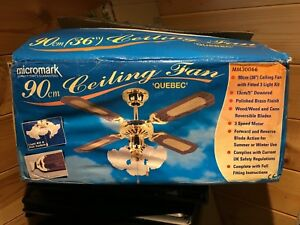 Micromark 90cm quebec ceiling fan with light mm30066 new ebay image is loading micromark 90cm quebec ceiling fan with light mm30066 aloadofball Images