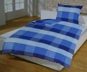 Schlafwohl Microfaser Bettwäsche Set 4 Teilig 135 X 200 Cm Blau