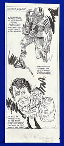 1989-Patriots-John-Stephens-034-Another-Bag-Job-034-9x23-Original-Cartoon-Art-Germano