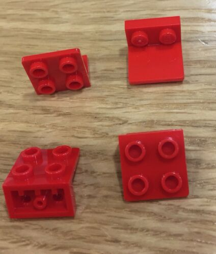 99207 Lego Spares Qty: 4 6001806 Red Bracket 1x2-2x2 Inverted