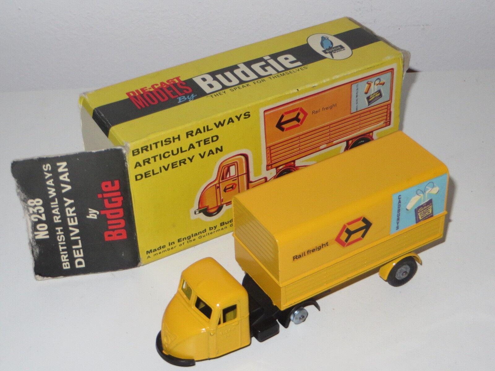 Budgie TOYS 238 British Railways articolato consegna Van in scatola anni 1960 RAIL