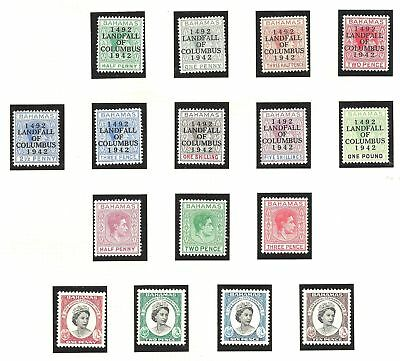 70087 Comfortable Feel Bahamas 1938/52 George Vi Fresh Mint Selection Bahamas (until 1973) Stamps
