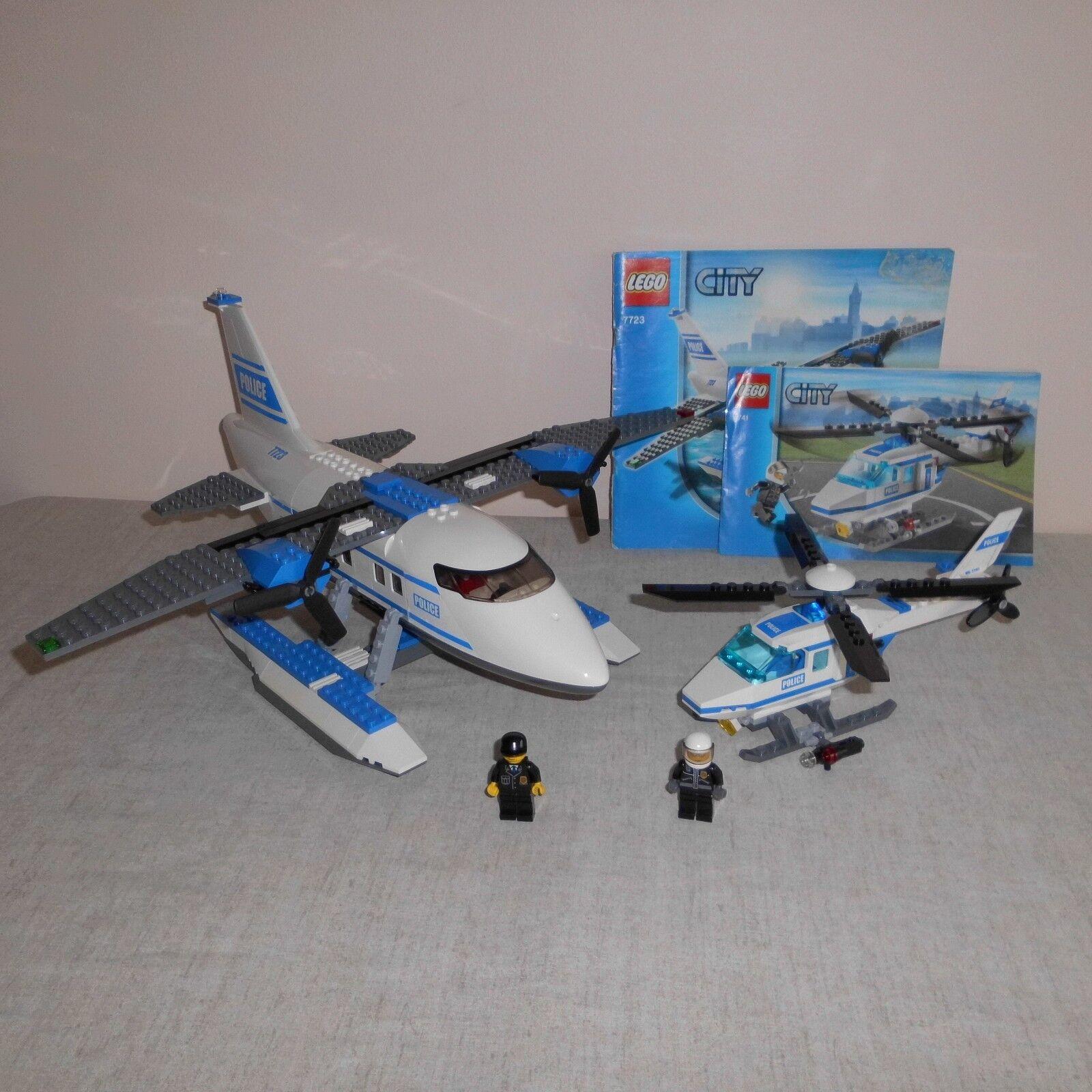 Lego City 7723 Police Pontoon Plane & 7741 Police Helicopter
