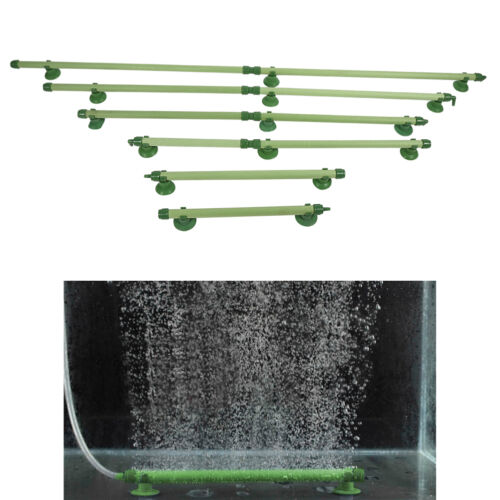 Acuario pescado tanque Ventosa Burbuja Pared Cortina de Aire Difusor Tubo Verde