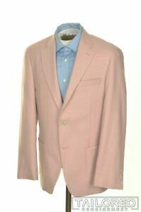 NWT - HART SCHAFFNER MARX Pink Wool Silk Mens Blazer Sport Coat Jacket - 38 R