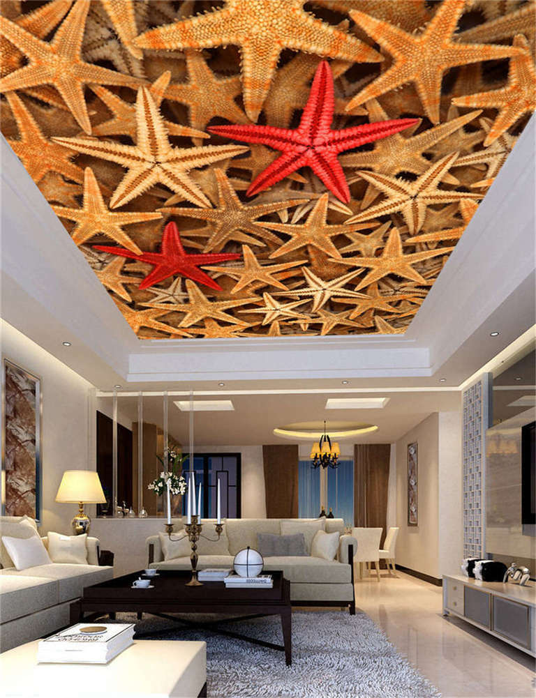 Starfish Fascinating Full Wallpaper Home Decor Ceiling 3d